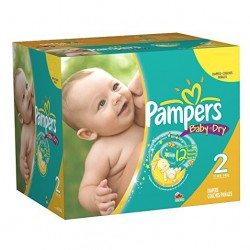 80 Couches Pampers New Baby Dry de taille 2 sur Sos Couches