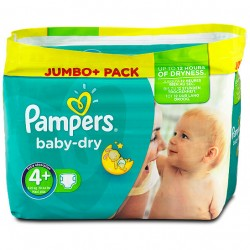 210 Couches de Pampers Baby Dry taille 4+ sur Sos Couches