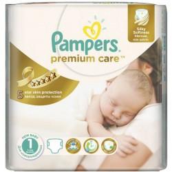 22 Couches de Pampers Premium Care de taille 1 sur Sos Couches
