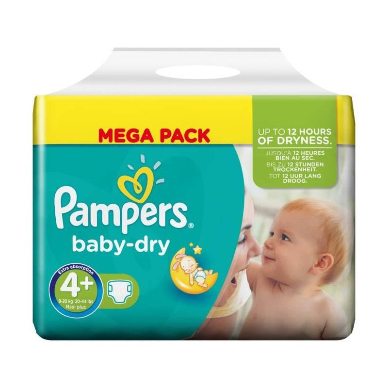 Achat 42 couches pampers baby dry taille 4 en promotion sur sos couches - Couches pampers baby dry ...