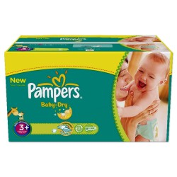 476 Couches Pampers Baby Dry de taille 3+ sur Sos Couches