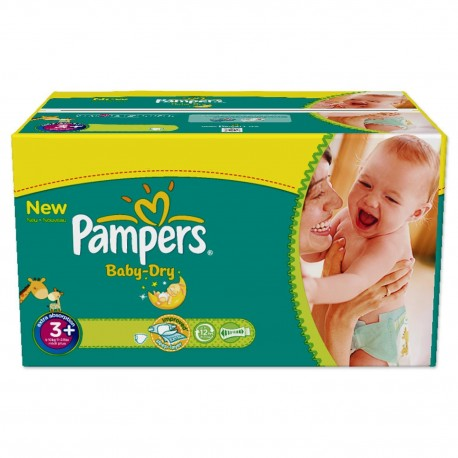 476 Couches Pampers Baby Dry taille 3+ sur Sos Couches