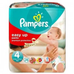 28 Couches Pampers Easy Up de taille 4 sur Sos Couches