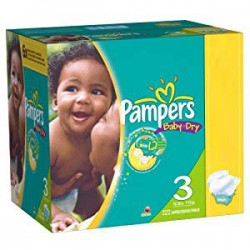 280 Couches Pampers de la gamme Baby Dry taille 3 sur Sos Couches