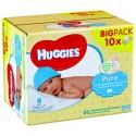 560 Lingettes Bébés Huggies Pure sur Sos Couches