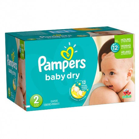 396 Couches Pampers Baby Dry taille 2 sur Sos Couches