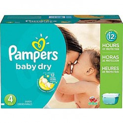 372 Couches Pampers Baby Dry taille 4 sur Sos Couches