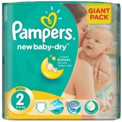 80 Couches Pampers New Baby Dry taille 2 sur Sos Couches