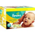 504 Couches Pampers New Baby Dry taille 2 sur Sos Couches