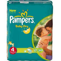 46 Couches Pampers de la gamme Baby Dry taille 4 sur Sos Couches