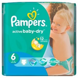 36 Couches Pampers Baby Dry taille 6 sur Sos Couches