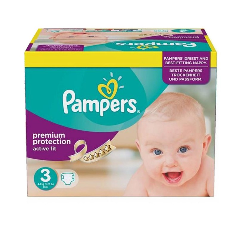 Achat 123 couches pampers active fit taille 3 moins cher sur sos couches - Couches pampers taille 3 ...