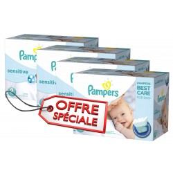 540 Couches Pampers de la gamme New Baby Sensitive taille 2 sur Sos Couches
