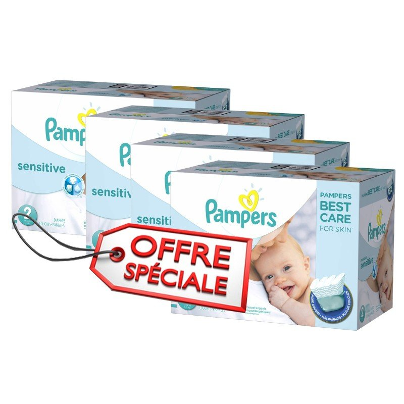 Achat 540 couches pampers new baby sensitive taille 2 moins cher sur sos couches - Couche pampers new baby taille 2 ...