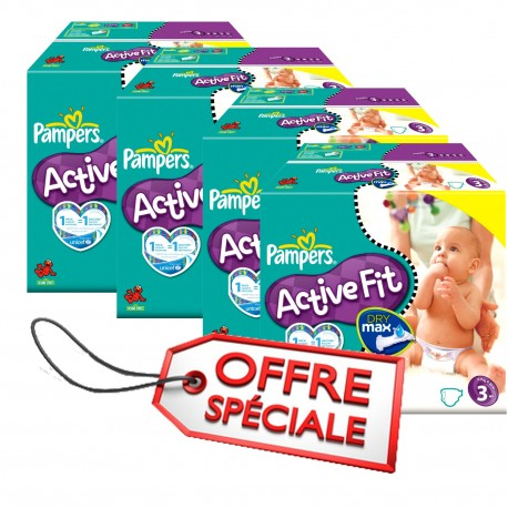 615 Couches Pampers Active Fit 3 sur Sos Couches
