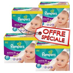 560 Couches de Pampers Active Fit taille 3+ sur Sos Couches