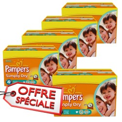 880 Couches Pampers Simply Dry 4+