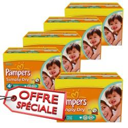 880 Couches de la marque Pampers Simply Dry de taille 4+ sur Sos Couches