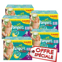 1008 Couches de Pampers Baby Dry taille 4+ sur Sos Couches