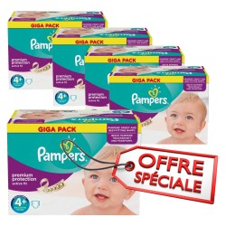 950 Couches Pampers Active Fit taille 4+ sur Sos Couches