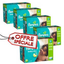 864 Couches de la marque Pampers Baby Dry taille 5 sur Sos Couches