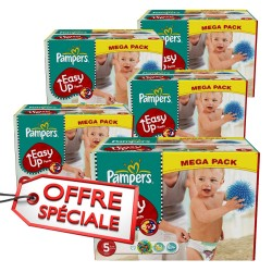 912 Couches Pampers Easy Up taille 5 sur Sos Couches