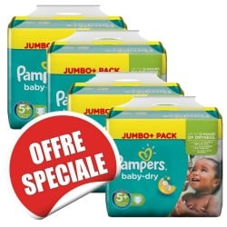 731 Couches Pampers Baby Dry de taille 5+ sur Sos Couches