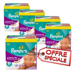 870 Couches Pampers Active Fit de taille 5+ sur Sos Couches