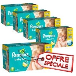 627 Couches de Pampers Baby Dry de taille 6 sur Sos Couches