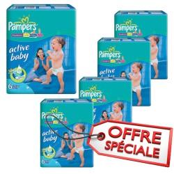 648 Couches Pampers de la gamme Baby Dry de taille 6 sur Sos Couches