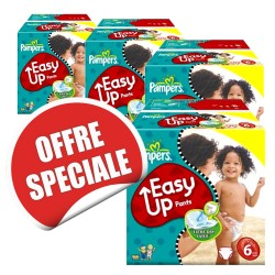 570 Couches Pampers Easy Up de taille 6 sur Sos Couches