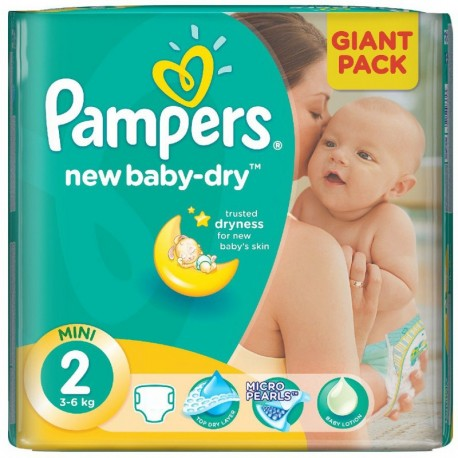 68 Couches Pampers New Baby Dry taille 2 sur Sos Couches