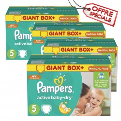 448 Couches Pampers Active Baby Dry taille 5 sur Sos Couches