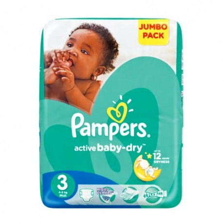 Achat 74 couches pampers active baby dry taille 3 en solde sur sos couches - Couche pampers baby dry taille 3 ...