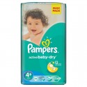 53 Couches Pampers Active Baby Dry 4+ sur Sos Couches