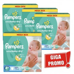 742 Couches Pampers Active Baby Dry de taille 4+ sur Sos Couches