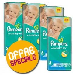 252 Couches Pampers de la gamme Active Baby Dry de taille 5 sur Sos Couches