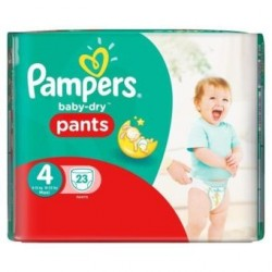 23 Couches Pampers Baby Dry Pants 4