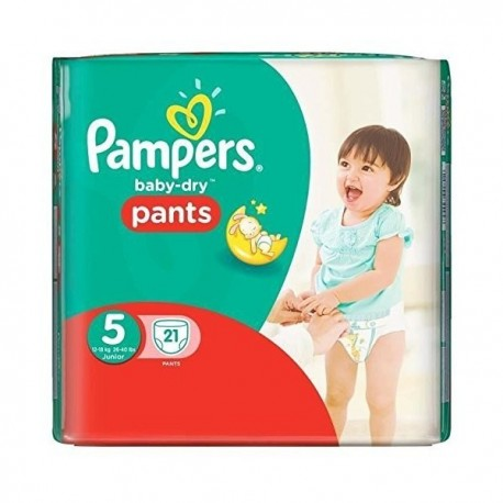 21 Couches Pampers Active Baby Dry taille 5 sur Sos Couches