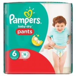 19 Couches Pampers Active Baby Dry taille 6