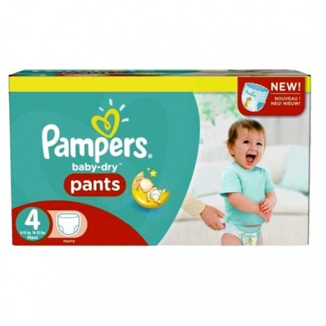 230 Couches Pampers Baby Dry Pants 4 sur Sos Couches
