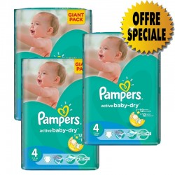 522 Couches de la marque Pampers Active Baby Dry taille 4 sur Sos Couches