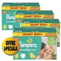 522 Couches Pampers Active Baby Dry taille 5 sur Sos Couches