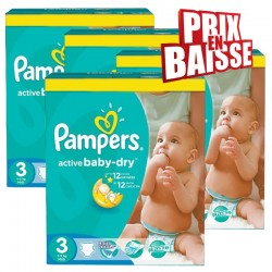 444 Couches Pampers Active Baby Dry 3