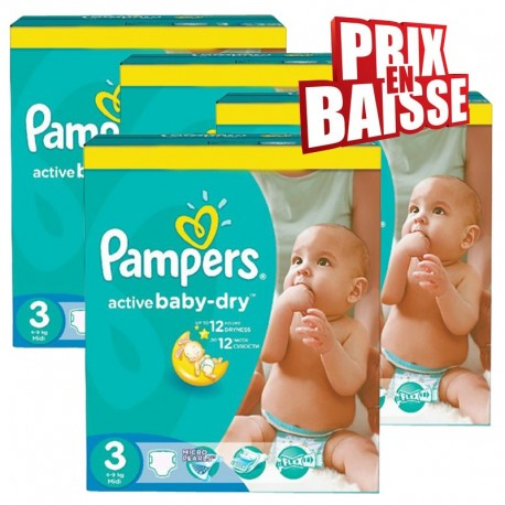 444 Couches Pampers Active Baby Dry 3 sur Sos Couches