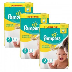 198 Couches Pampers Premium Protection 3