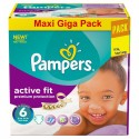 248 Couches Pampers Active Fit taille 6 sur Sos Couches