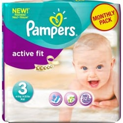 120 Couches Pampers Active Fit 3