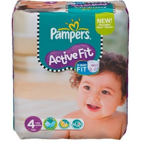 39 Couches Pampers Active Fit taille 4 sur Sos Couches