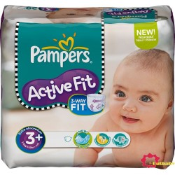 70 Couches Pampers Active Fit 3+